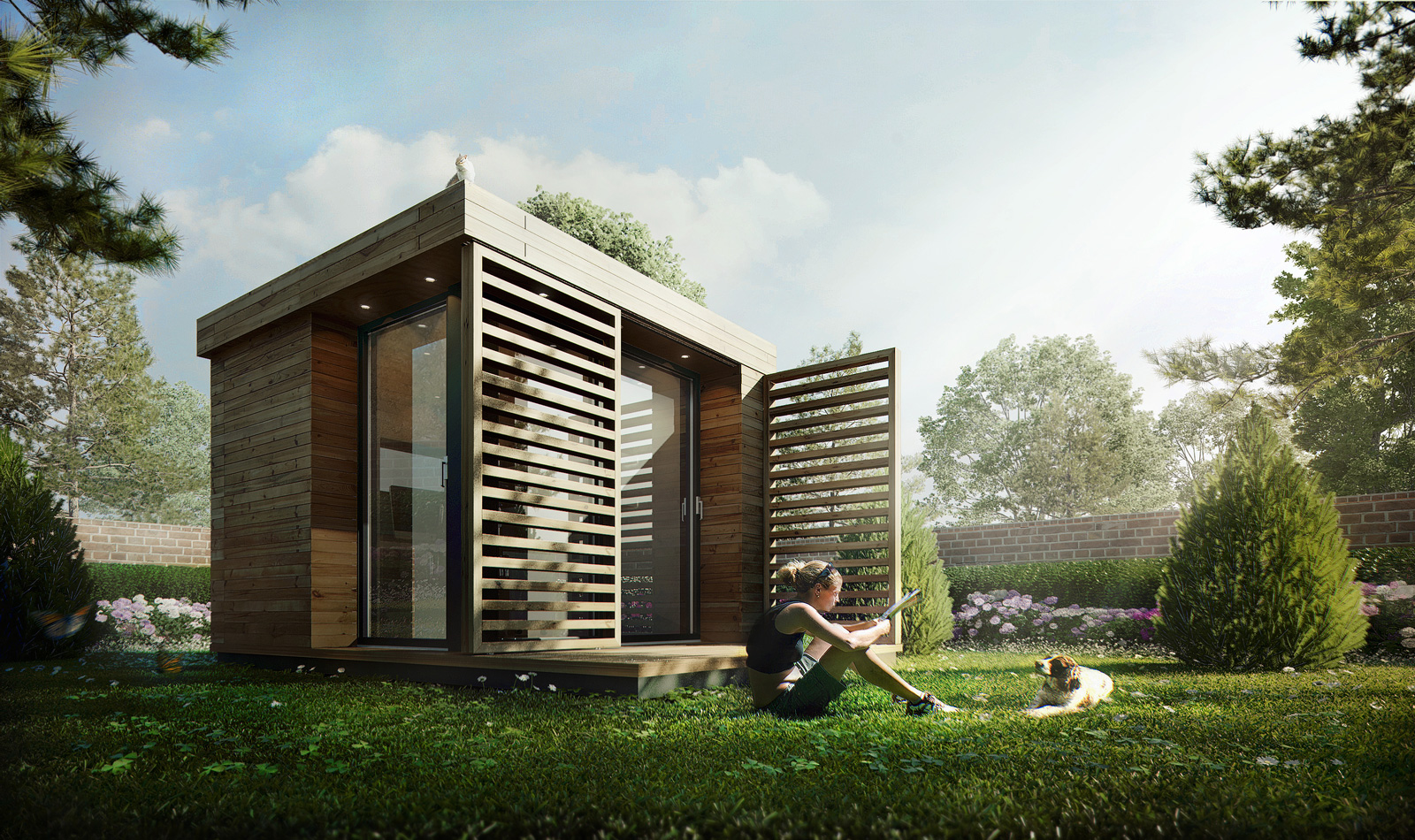 3d Visualization Garden Office Architectural Visualization Studio Mer Ces Arch Design