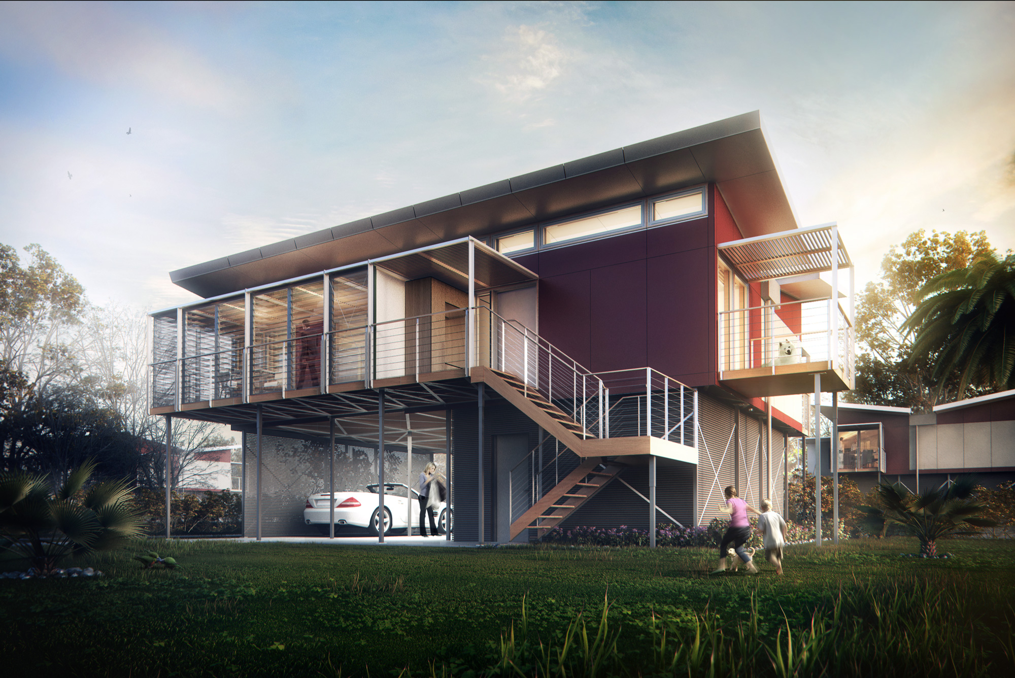 3d visualization kiribati house architectural - 3d architectural visualization ...