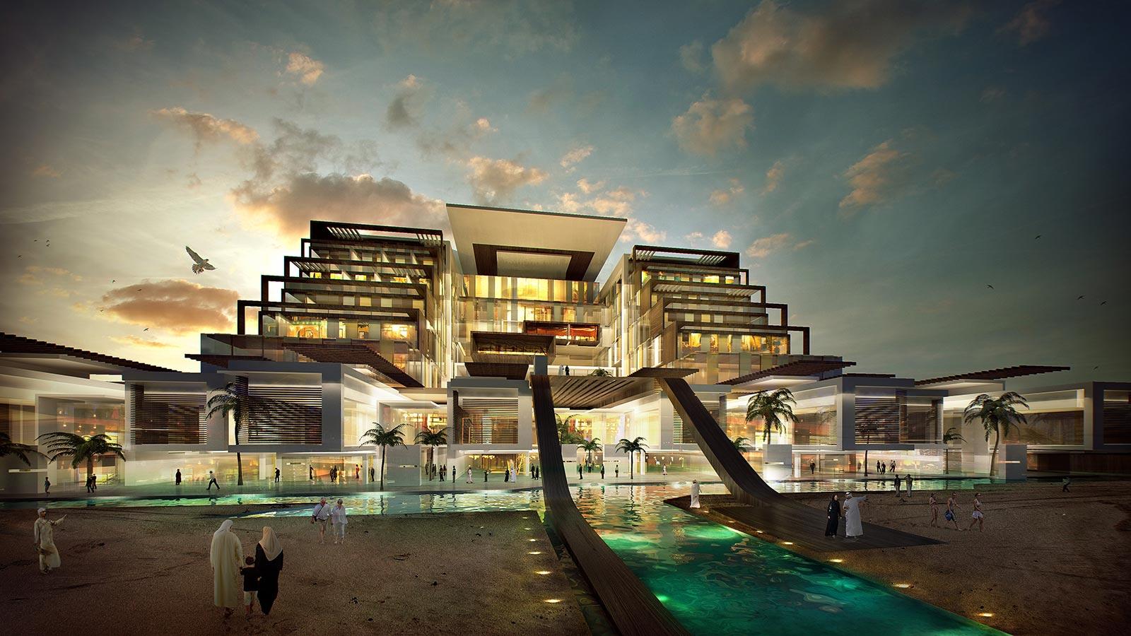 3d visualization kuwait hotel architectural for Modern house design kuwait