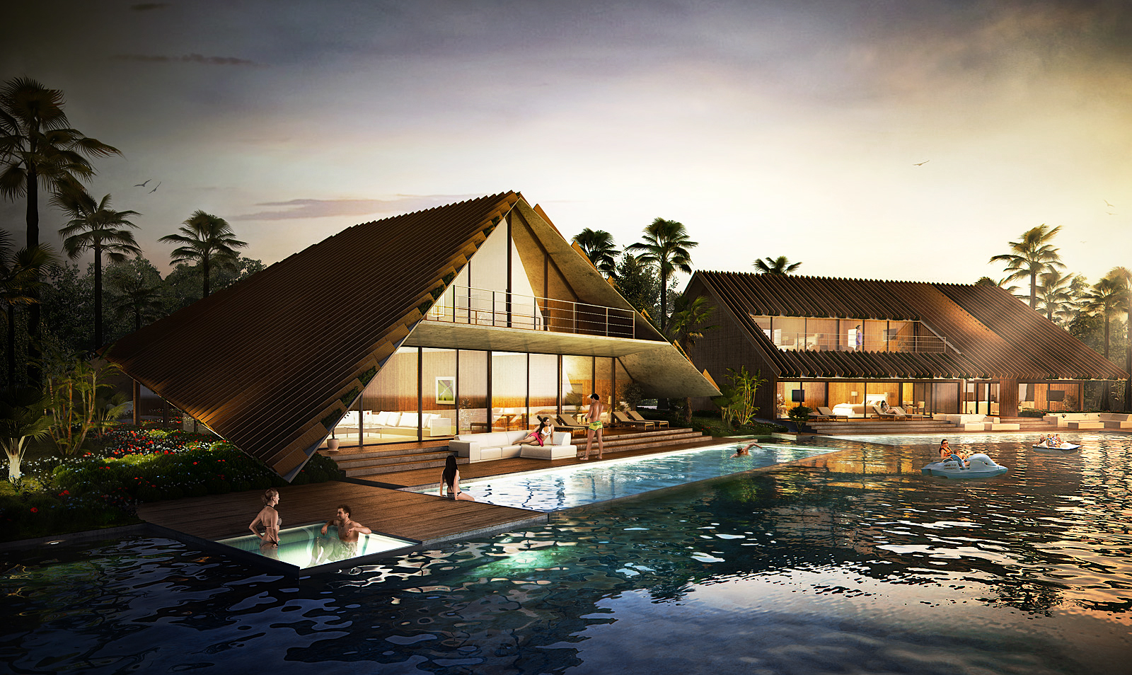 3d Visualization Thailand Resort Architectural