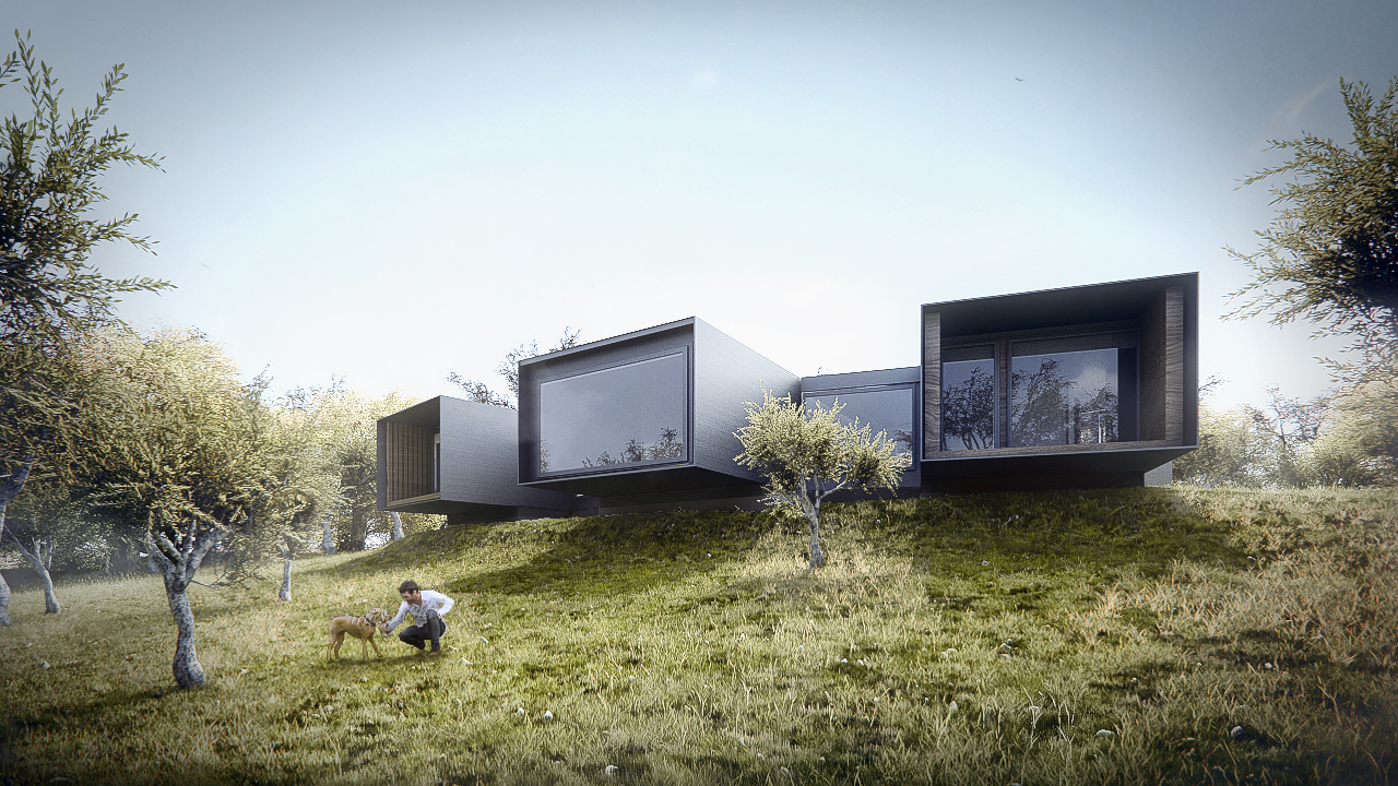 3d visualization house in alentejo architectural for House visualizer