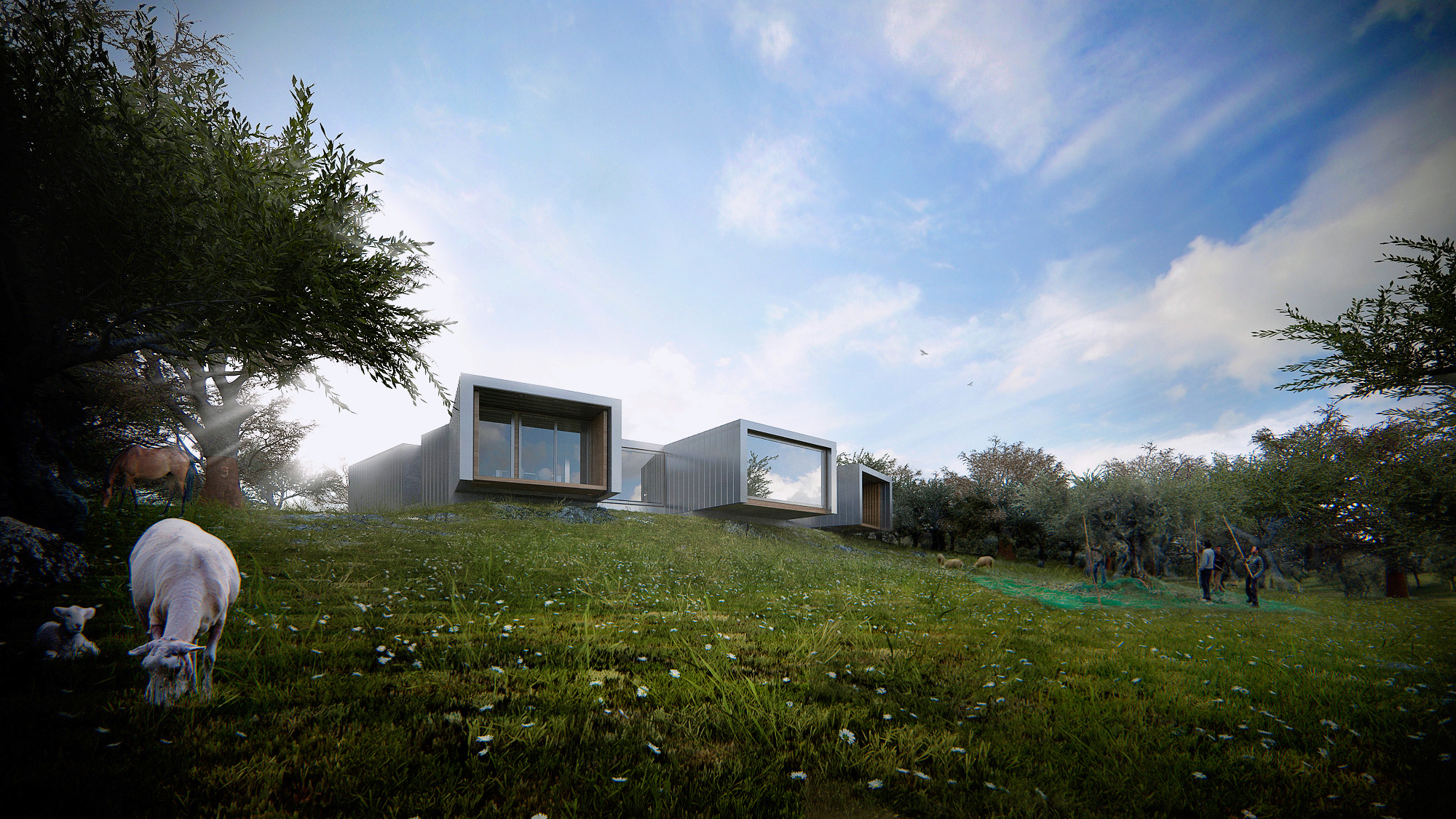 3d visualization house in alentejo architectural for Garden design visualiser