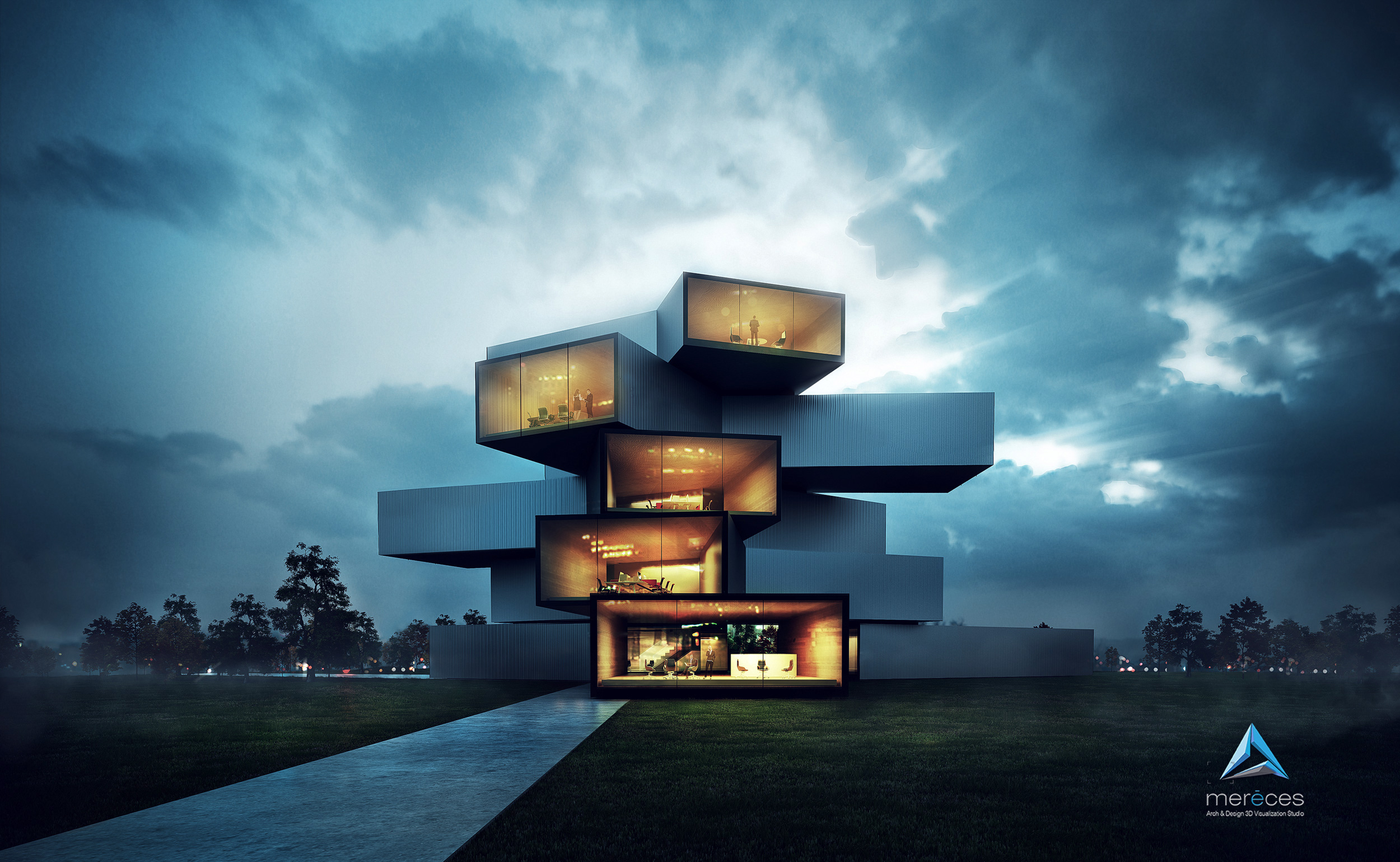 Modern Architecture Render 3d architecture visualization project, 3d renders, arch-viz, vray