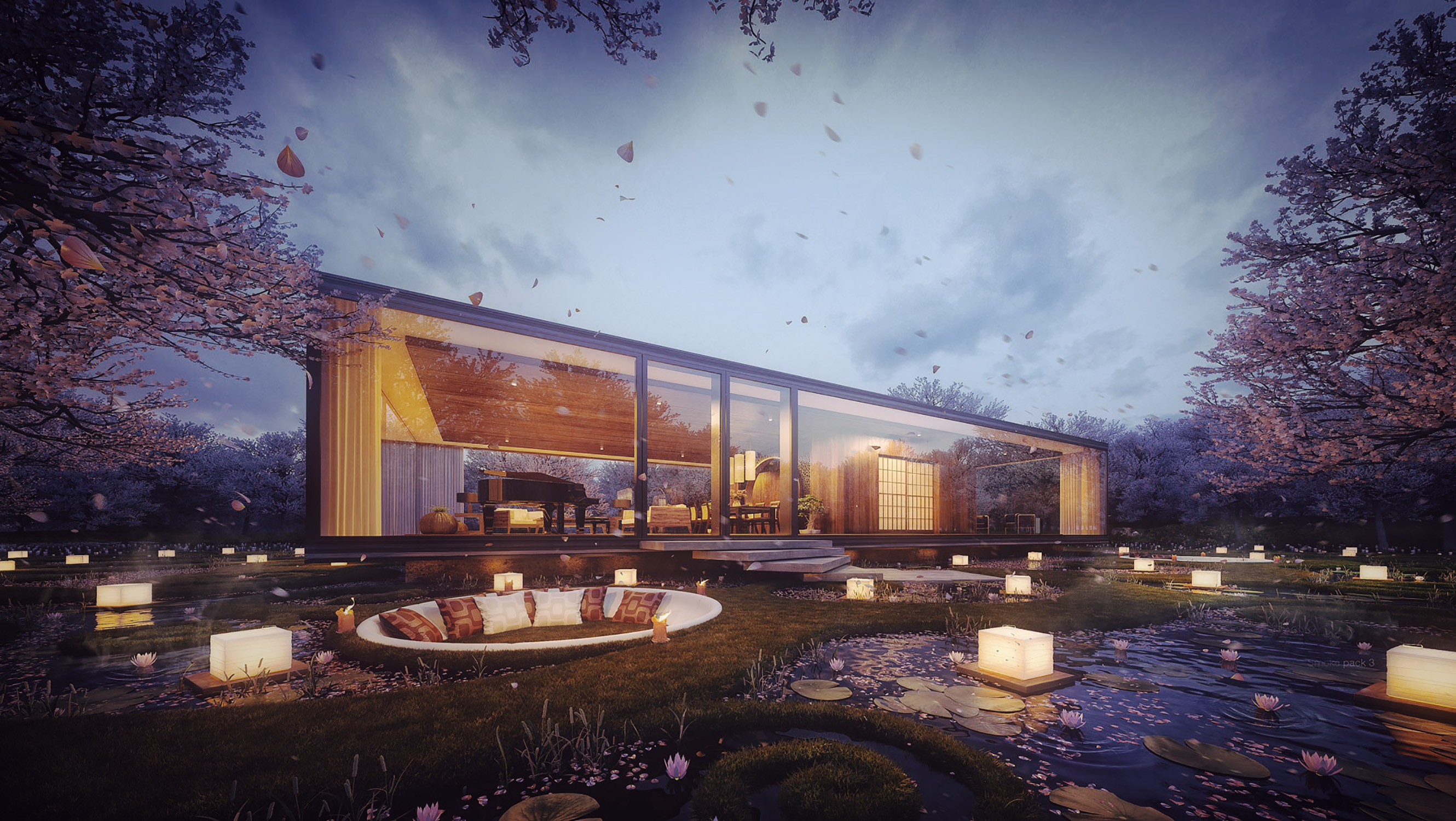 3d visualization gardenian house