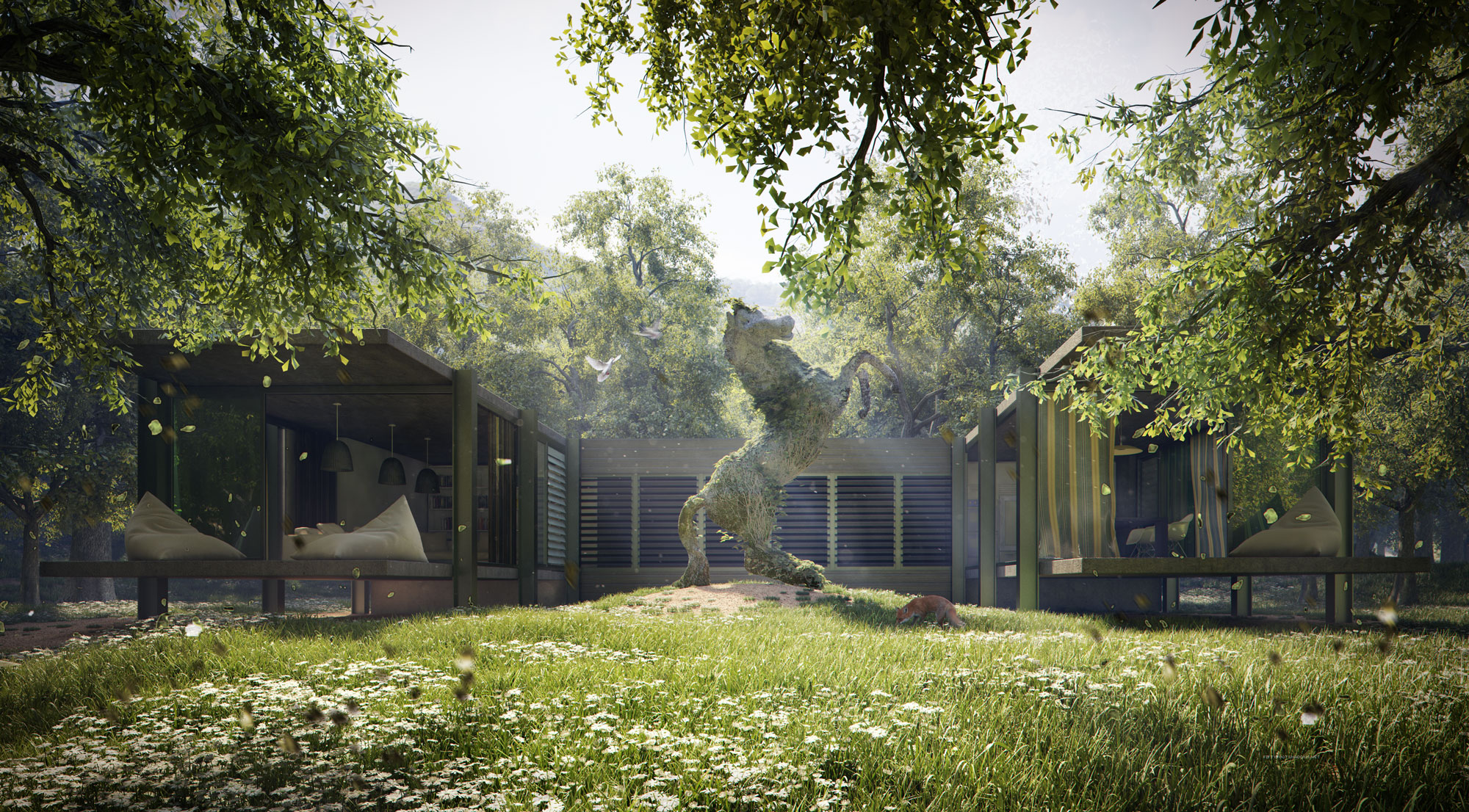 3d Render Valkyrian House Architectural Visualization