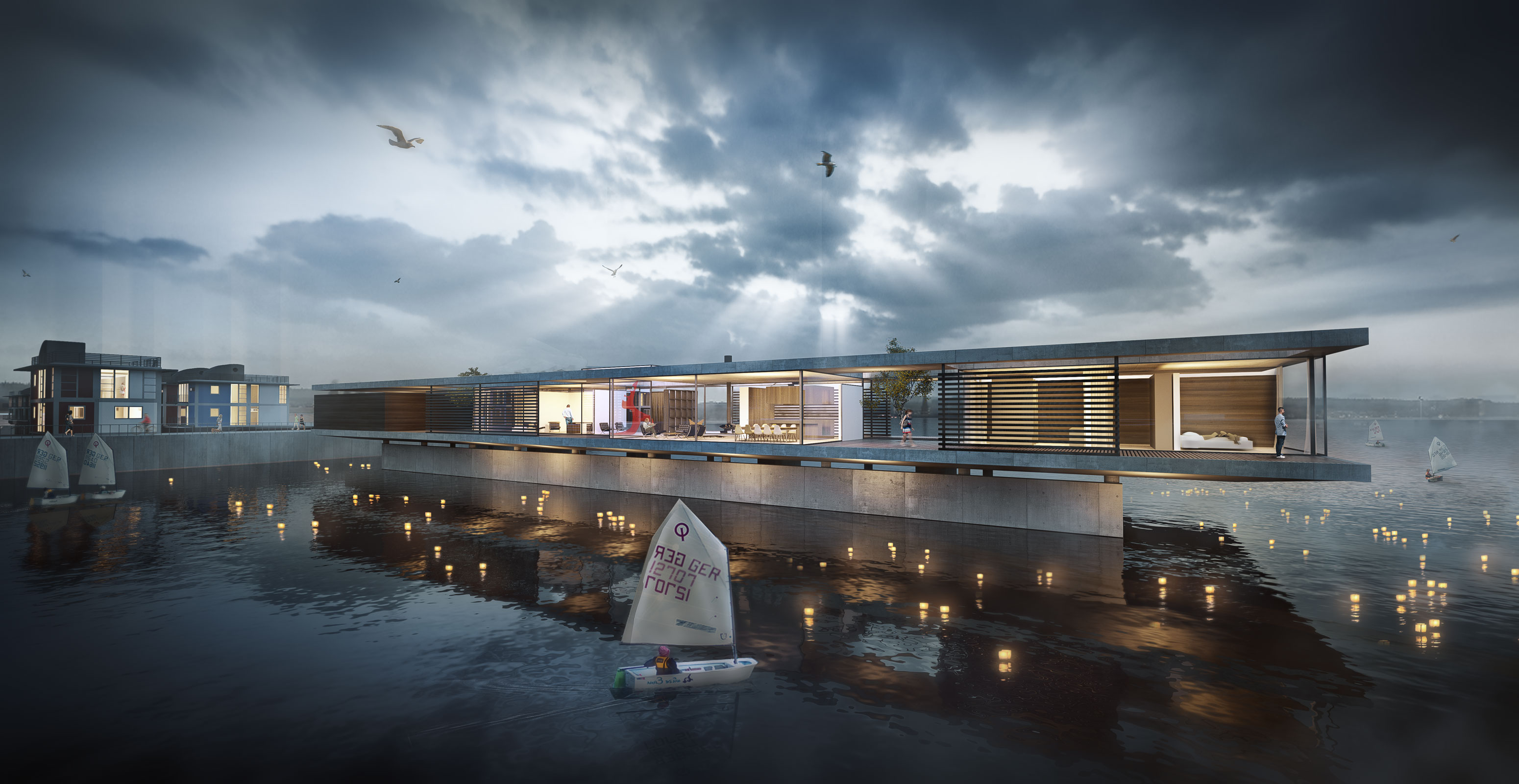 Architecture visualization flensburg house - 3d architectural visualization ...